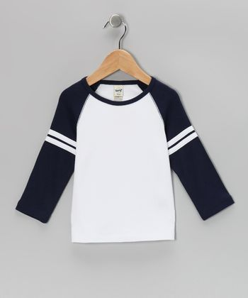 Navy Raglan Tee - Girls