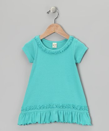 Caribbean Blue Ruffle Dress - Toddler & Girls