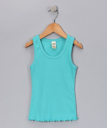 Caribbean Blue Tank - Toddler & Girls