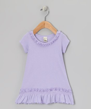 Lavender Ruffle Dress - Toddler & Girls