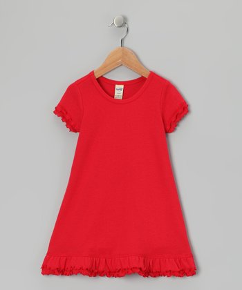 Red Ruffle Dress - Toddler & Girls