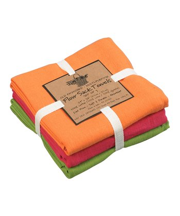 Pumpkin Medallion Flour Sack Towel Set