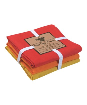 Flame Medallion Flour Sack Towel Set
