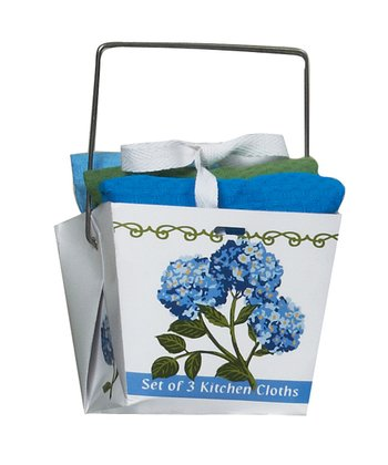 Blue Hydrangea Dishcloth Set