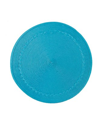 Blue Round Place Mat - Set of Four