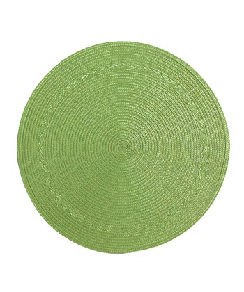 Green Round Place Mat - Set of Four