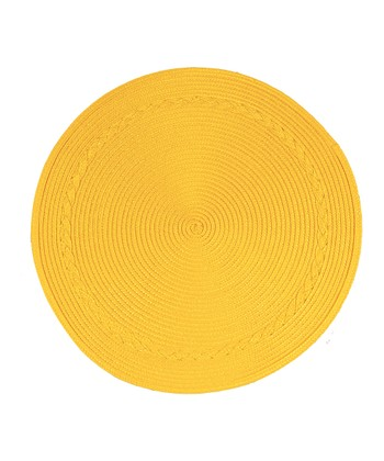 Yellow Round Place Mat - Set of Four