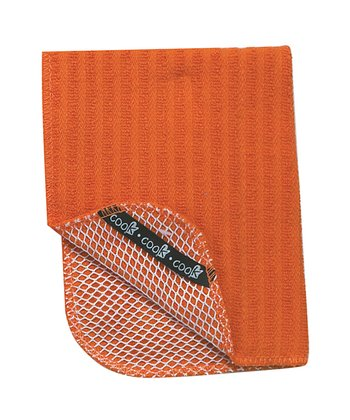 Orange Scrubber Dishcloth - Set of Two