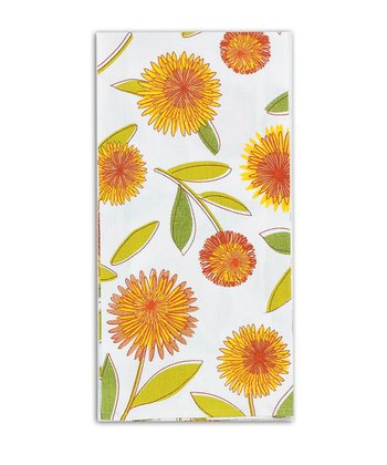 Yellow Floral Flour Sack Towel - Set of Two
