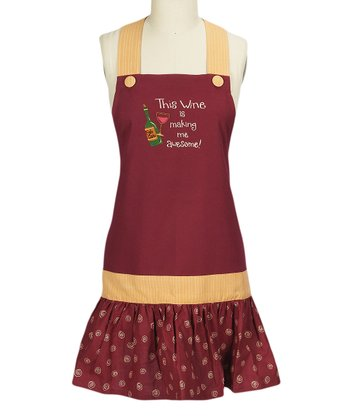 'Awesome' Wine Apron - Women