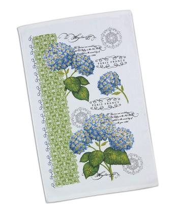 Blue Hydrangea Dish Towel - Set of Two