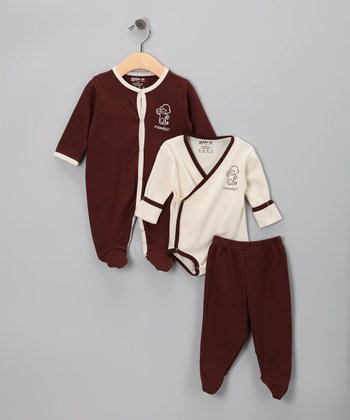 Brown Monkey Organic Footie Set - Infant