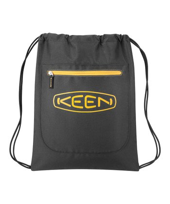 Black & Golden Glow Zip Pocket 14 L. Drawstring Backpack