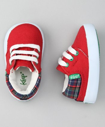 Red Railroad Plaid Ramos Sneaker