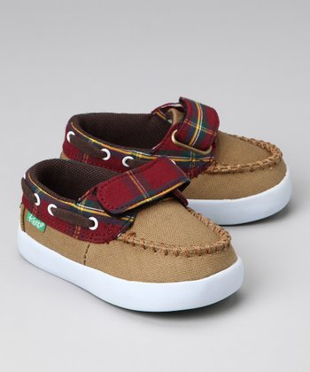 Field Tan Plaid Benten Boat Shoe
