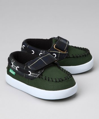 Green & Black Watch Benten Boat Shoe