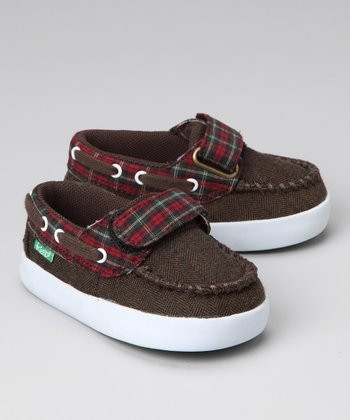 Brown Herringbone Benten Boat Shoe