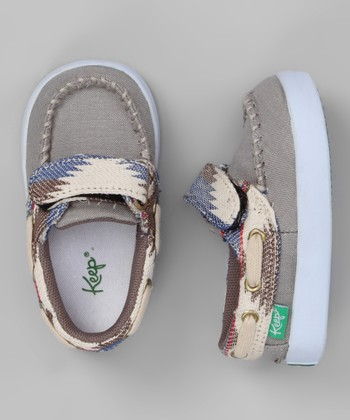 Gray Desert Snake Eye Benten Boat Shoe