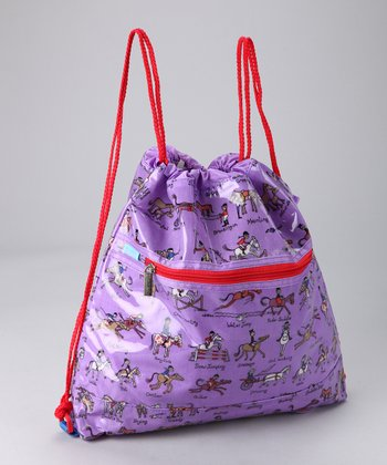 Large Horse Drawstring Bag
