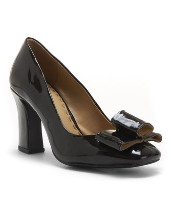 Black Patent Leather Molly Pump