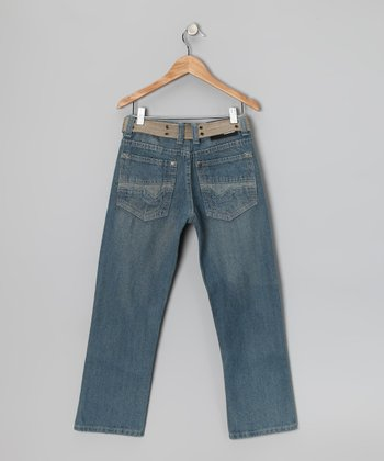 Vintage Blue Fashion Straight-Leg Jeans