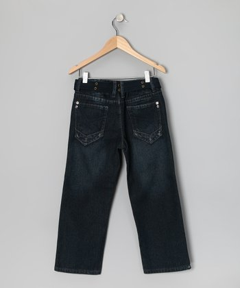 Charcoal Gray Fashion Straight-Leg Jeans