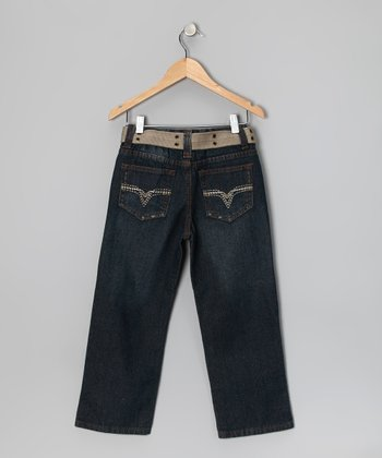 Blue Fashion Straight-Leg Jeans