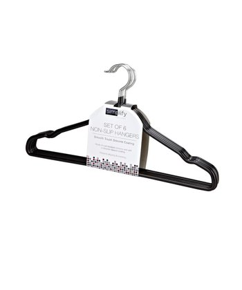 Black No-Slip Hanger - Set of Six