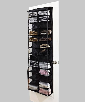 Black 26-Pocket Over-Door Shoe Organizer