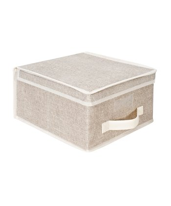 Burlap Medium Storage Box