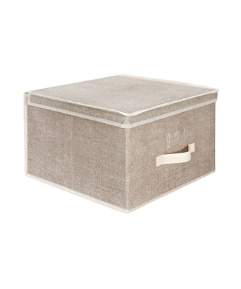 Burlap Jumbo Storage Box