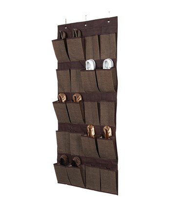Espresso Delancy 20-Pocket Over-Door Shoe Organizer