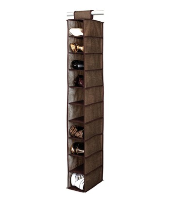 Espresso 10-Shelf Hanging Shoe Organizer