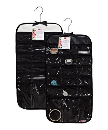 Black & Cream 37-Pocket Travel Accessory Organizer