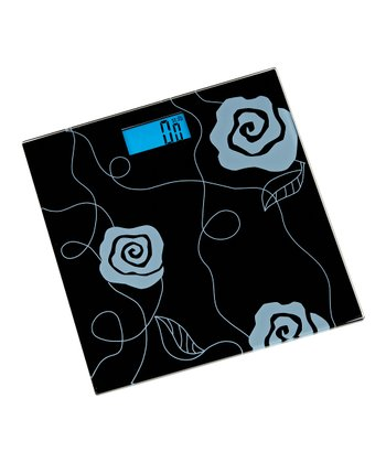 Black Flower Digital Bath Scale