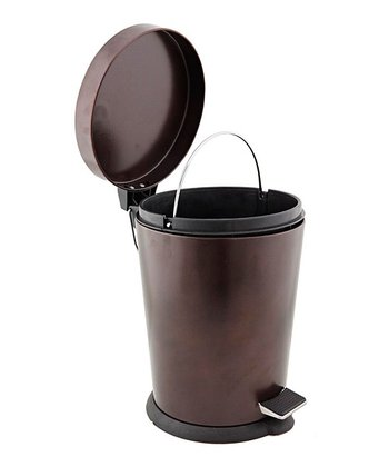 Rust Step-On Bathroom Trash Can