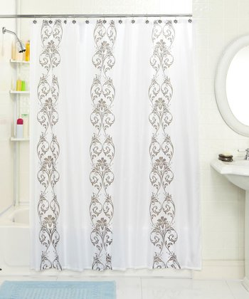 Ornament Shower Curtain & Hook Set