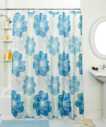 Blueberry Burst Shower Curtain & Hook Set