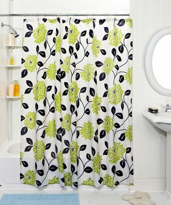 Floral Vine Shower Curtain & Hook Set