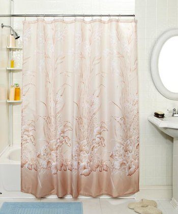 Rose Lily Pond Shower Curtain & Hook Set