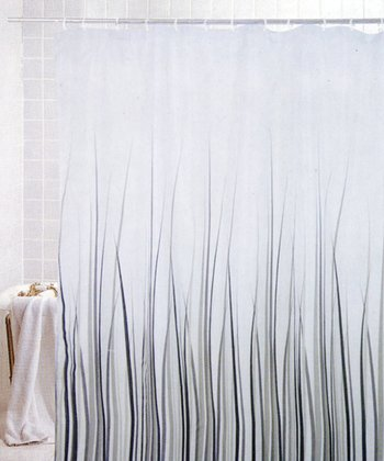 Gray Grass Shower Curtain & Hook Set