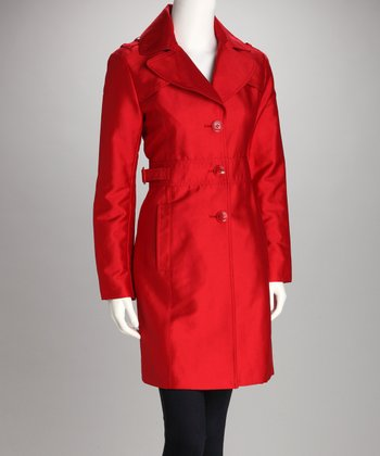 Tomato Three-Button Coat