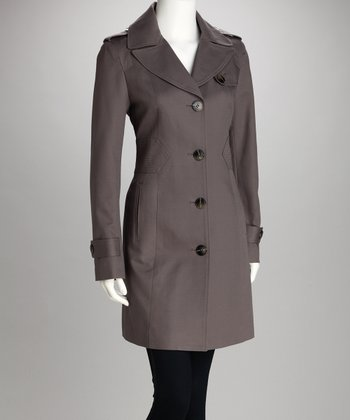 Ash Four-Button Coat