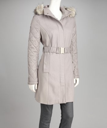 Vapor Quilted Wool-Blend Coat