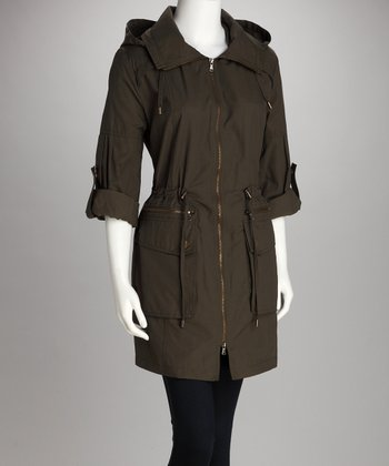 Cypress Cuffed Trench Coat
