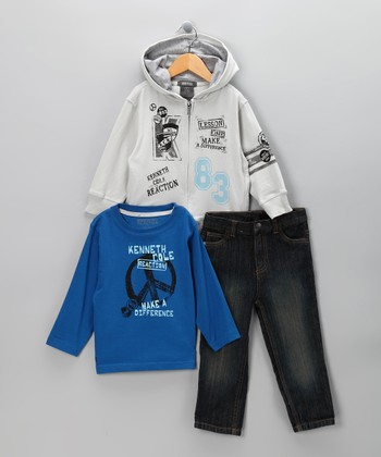 Blue 'Make a Difference' Hoodie Set - Infant
