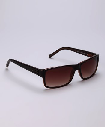 Dark Brown Rectangular Sunglasses