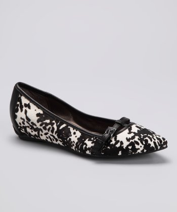 White & Black Dalmatian Uptown Girl Flat
