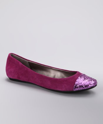 Berry Slipified Ballet Flat