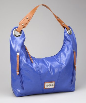 Cobalt & Tan Hobo